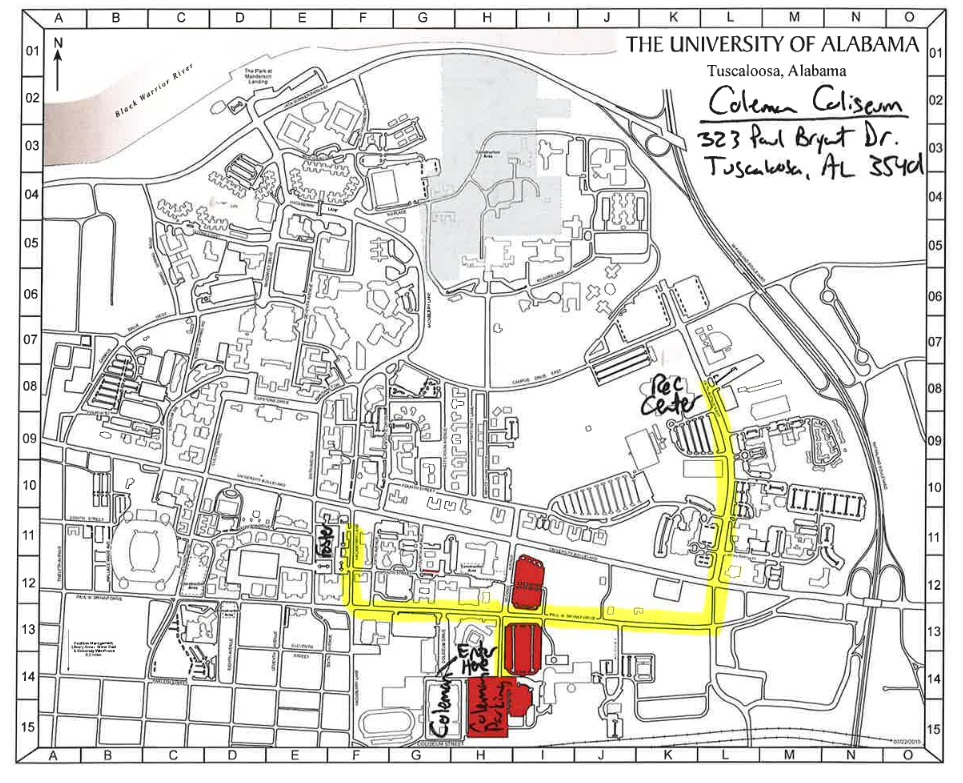 AL Coleman Map